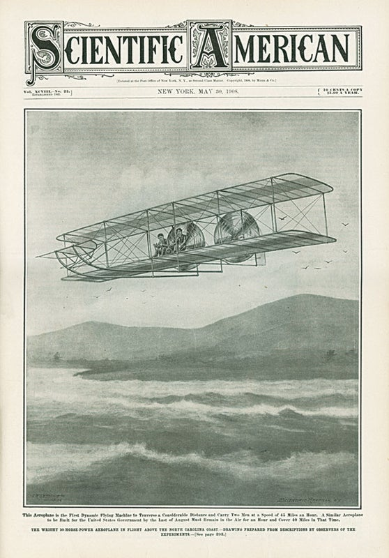 100 Years Ago in Scientific American: The Wright Brothers' First Flight