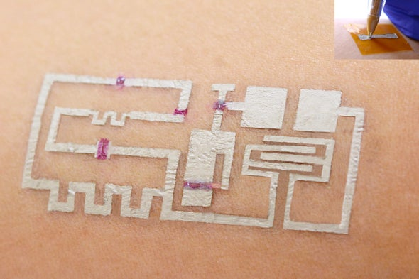 New Pen-and-Ink Method Draws Health Sensors Directly on Skin