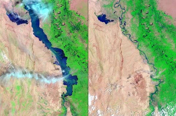 Earth-observing satellite documents Pakistan flooding