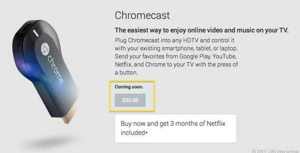 Google's new Chromecast dongle plays hard to get
