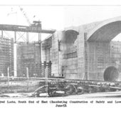 The Pedro Miguel locks being built, 1912: