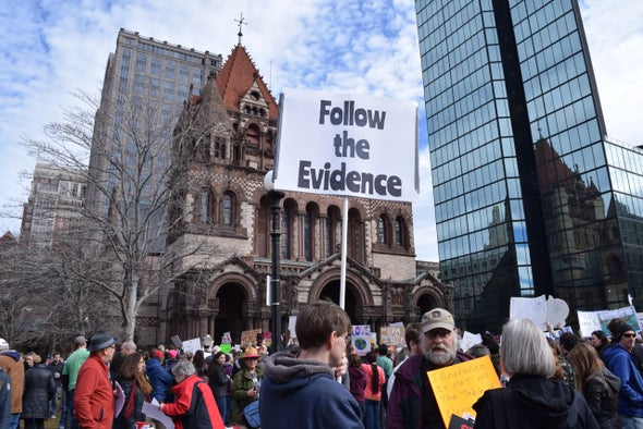 Politics-Wary Scientists Wade into the Trump Fray at Boston Rally