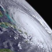 Eye of Hurricane Joaquin Passing over Bahamas