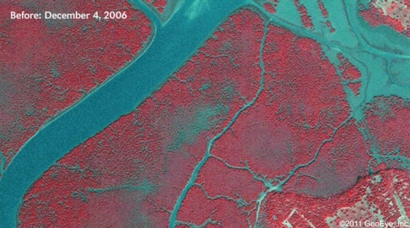 Satellites Detect Oil Spill Aftermath from Space