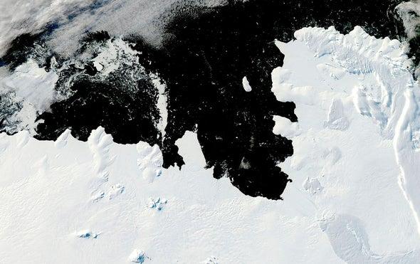 Antarctic Glacier's Breakup Is Controlled by Seafloor Topography