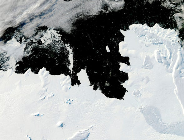 Antarctic Glacier's Breakup Is Controlled by Seafloor Topography