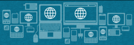 graphic showing various consumer electronics, computers, phones