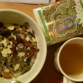 Grains, seeds, nuts and tea