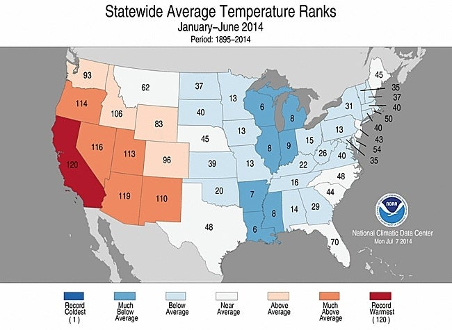 California Sets Sizzling Record for 2014 So Far