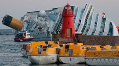 Crippled Cruise Ship, <i>Costa Concordia,</i> Haunts Italians of Giglio
