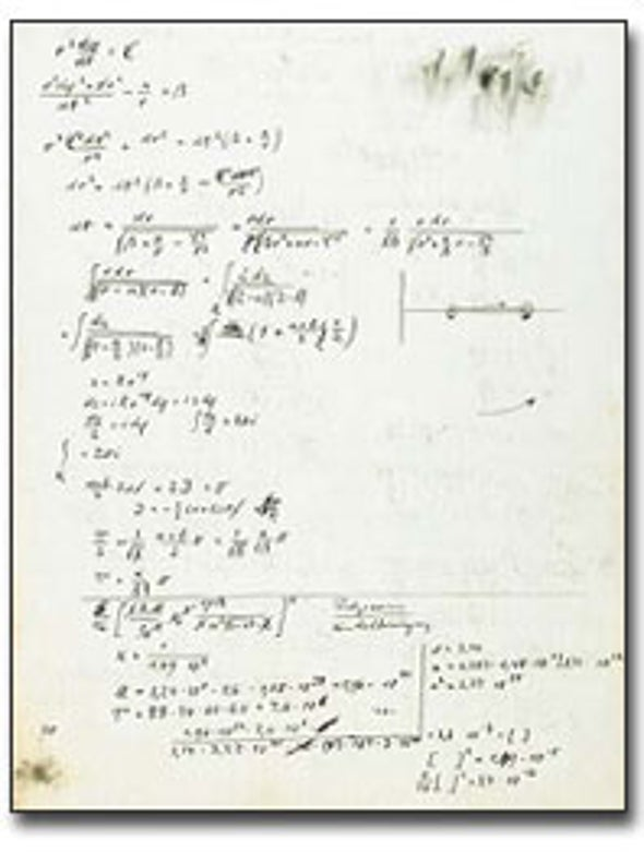 Physics Manuscripts Fetch Top Dollar on Auction Block