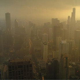 Hazy Shade of Smog in Chicago