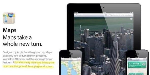 "Apple Backtracks on ""Most Powerful"" Map App Claim"