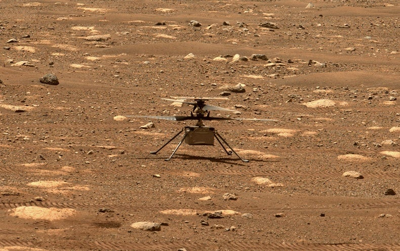 First Flight of NASA's Mars Helicopter Ingenuity Is ...