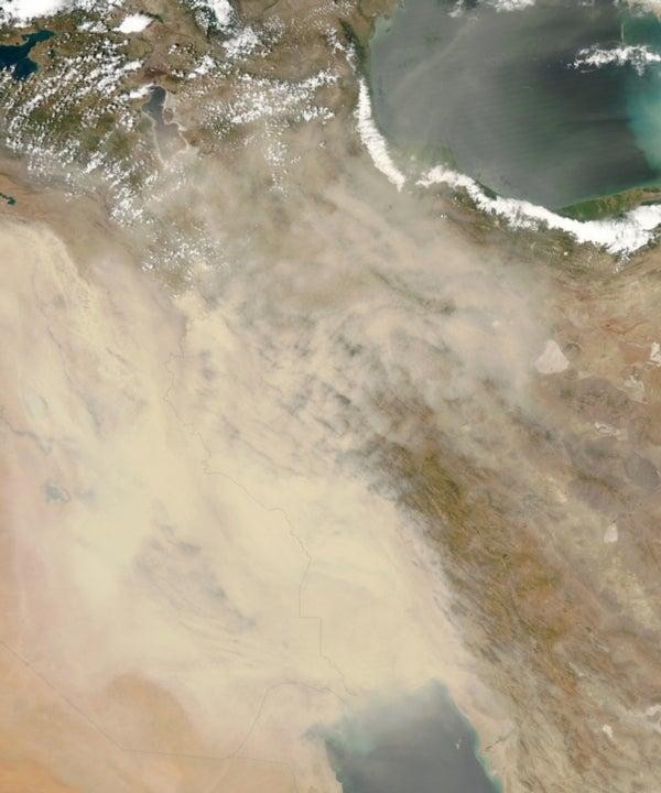 Desert storm: Satellite spots dust storm that choked Iraq
