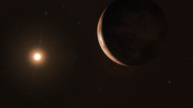 A Frozen Super-Earth May Orbit Barnard's Star