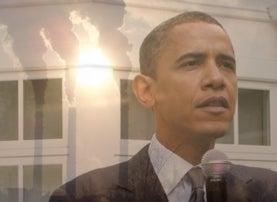 smokestacks and Obama composite image