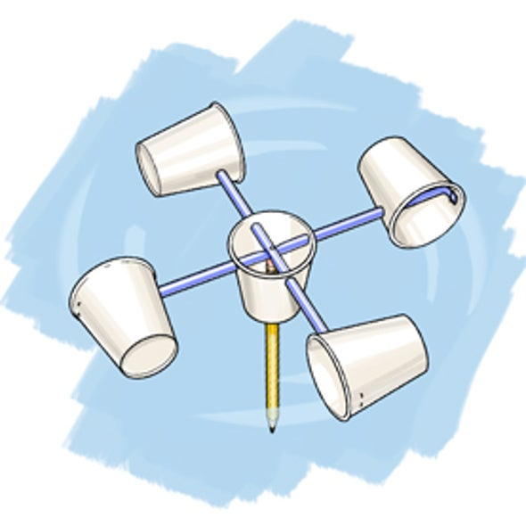 how to make a wind gauge at home
