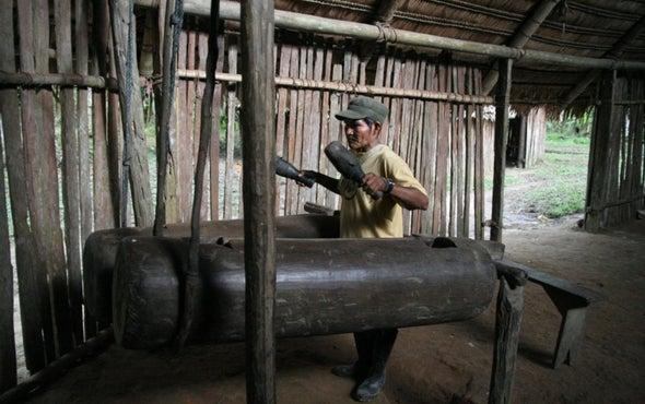 Drumming Beats Speech for Distant Communication