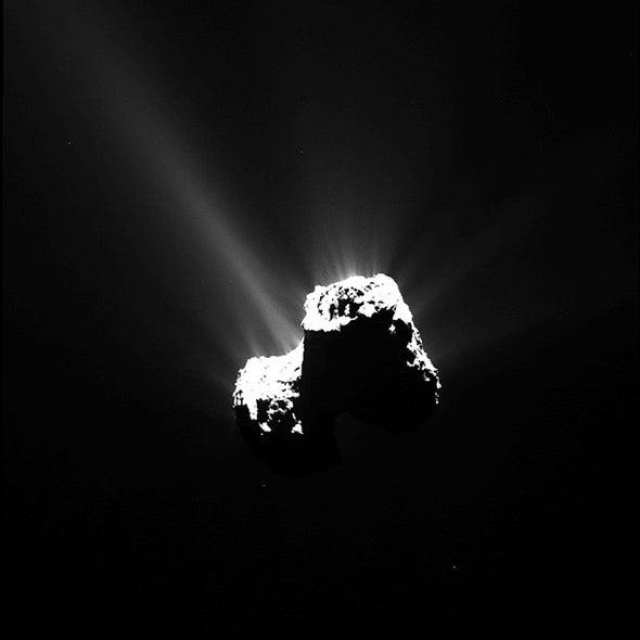 Rosetta Sniffs Oxygen around Comet 67P