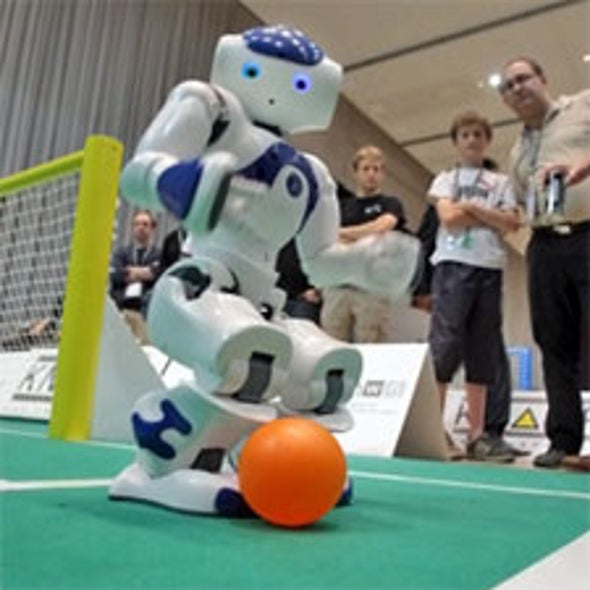 RoboCup 2010: Could Robot versus Human Be Far Behind? [Slide Show]