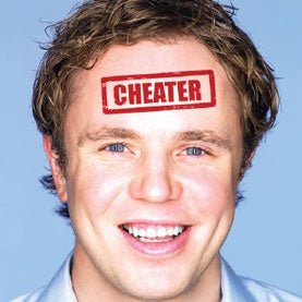 cheating, man smiling, thought & cognition, deceit
