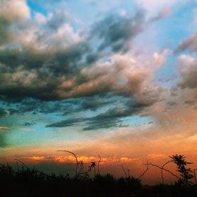 sky outside of Yarnell, Arizona