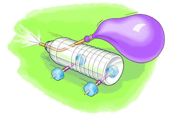 Build A Balloon Powered Car