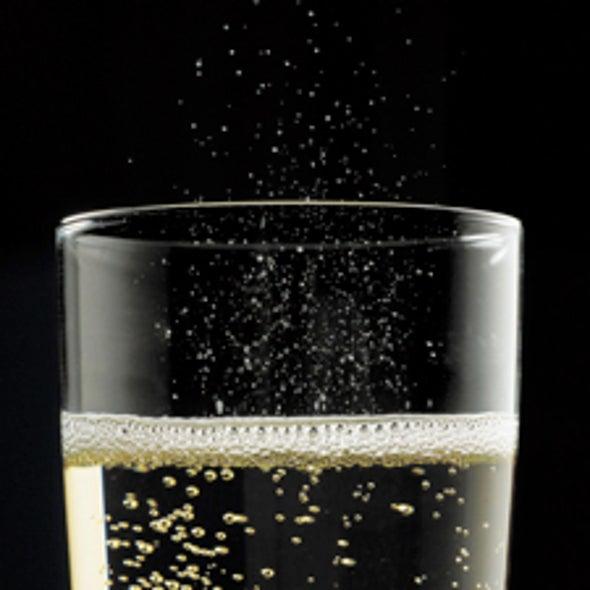 Champagne Bubbles Liberate Flavor Compounds