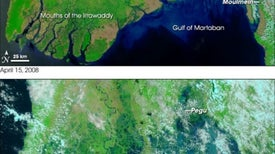 Myanmar Cyclone: Before and After