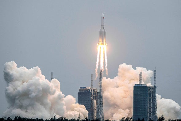 Huge Chinese Rocket Falls to Earth over Arabian Peninsula