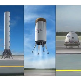 SpaceX Unveils Plan for World's First Fully Reusable Rocket