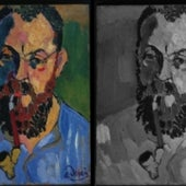 Matisse's multicolored face