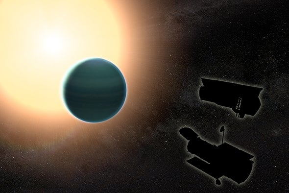 """Astronomers Find Water and Weird Clouds on Extrasolar """"Warm Neptune"""""""