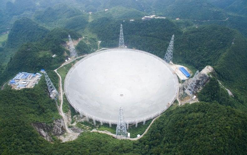 China Finishes Building the World's Largest Radio Telescope