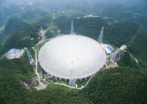 China Finishes Building the World's Largest Radio Telescope