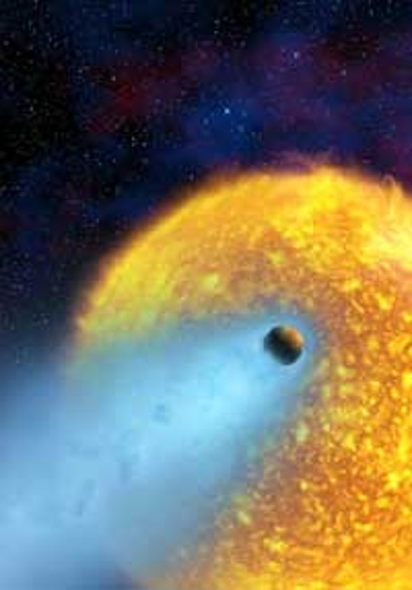 Hubble Spies Evaporating Planet