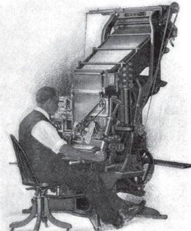 Mergenthaler machine