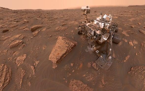 Massive Dust Storm Engulfs Mars
