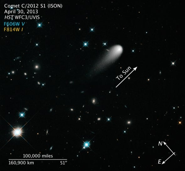 The Plunge of a Comet from the Oort Cloud