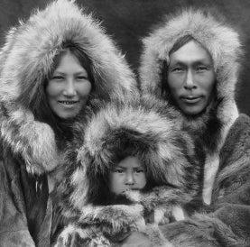 Inupiat Eskimo family