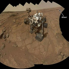 Curiosity rover self-protrait