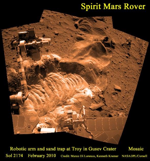 A Mars Panorama Mosaic: Bidding Farewell to NASA's Spirit Rover