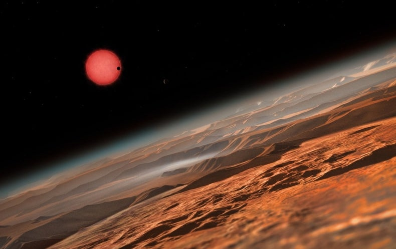 Nearby Star Harbors Trio of Earth-Size Worlds