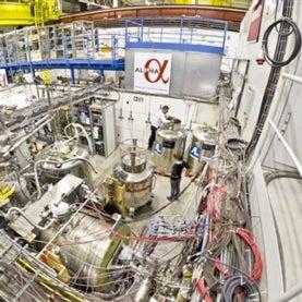 ALPHA antimatter apparatus at CERN