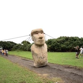 """Easter Island Statues Might Have Been """"Walked"""" Out of Quarry"""