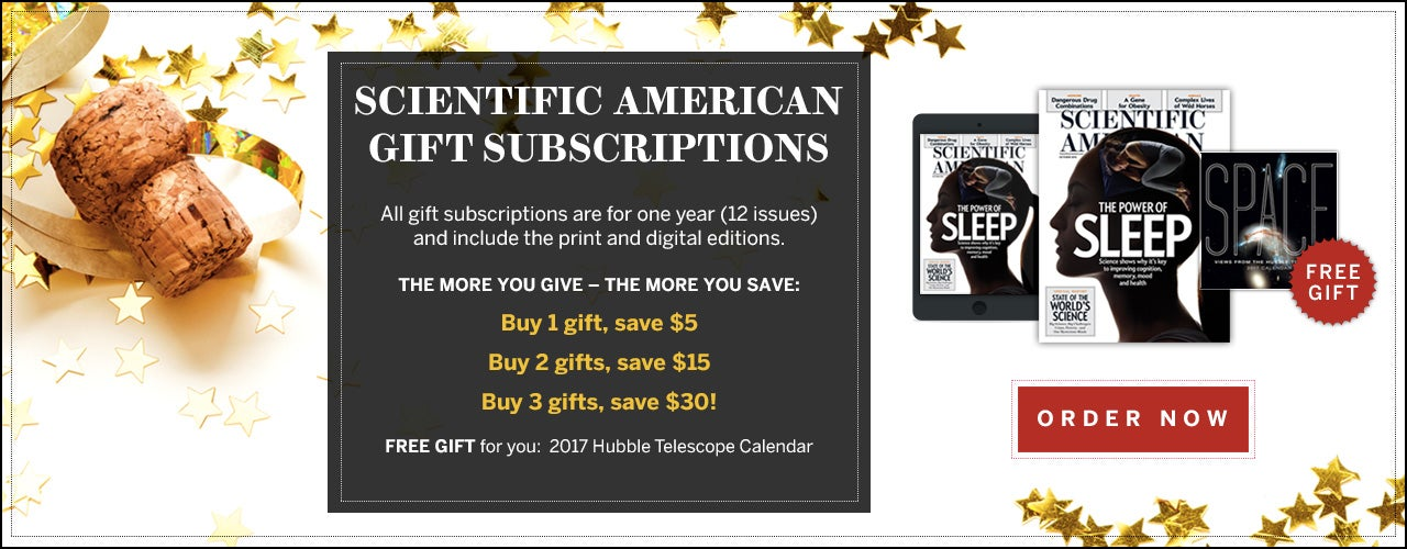 Scientific American New Year's Gift Subscriptions