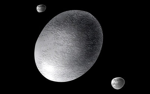 Bizarre Dwarf Planet Haumea Has Rings