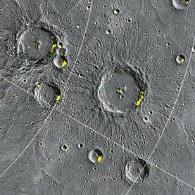 mercury, icy, ice deposits