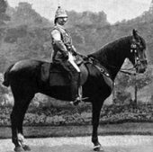 Emperor William in the uniform he designed by himself for his journey into Palestine, 1898.